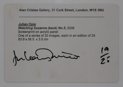 LOT.1 Julian Opie
